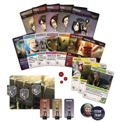 Attack on Titan Deck Bldg. Game Components