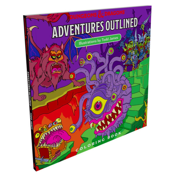 D&D Adventure Coloring Book cover