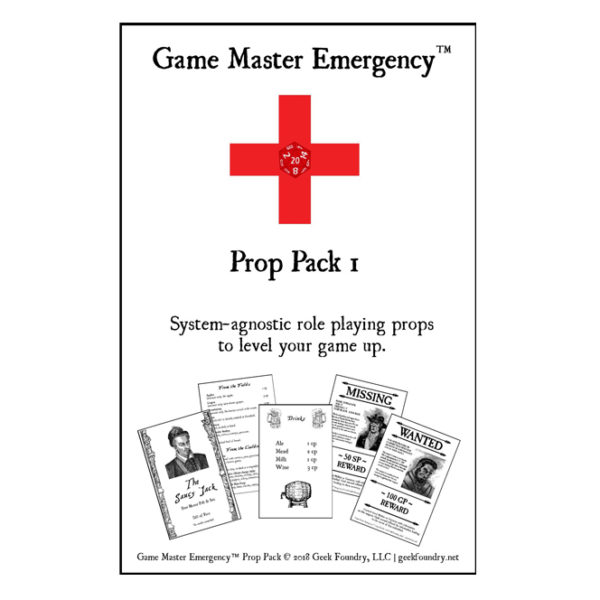 Geek Foundry Game Master Emergency Prop Pack 1