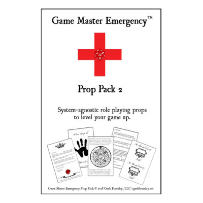 Game Master Emergency<sup>TM</sup> Prop Pack 2