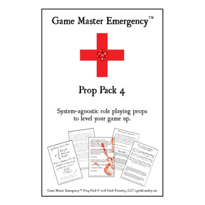 Game Master Emergency<sup>TM</sup> Prop Pack 4