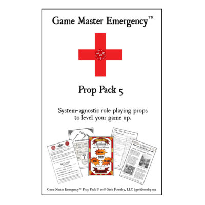 Game Master Emergency<sup>TM</sup> Prop Pack 5