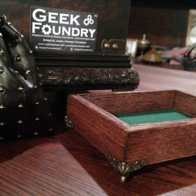 Geek Foundry Red Oak Dice Box (Made in Wisconsin!)