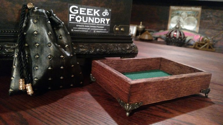 Geek Foundry Red Oak Dice Box