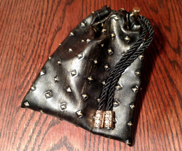 Geek Foundry Studded Armor Dice Pouch - Gold