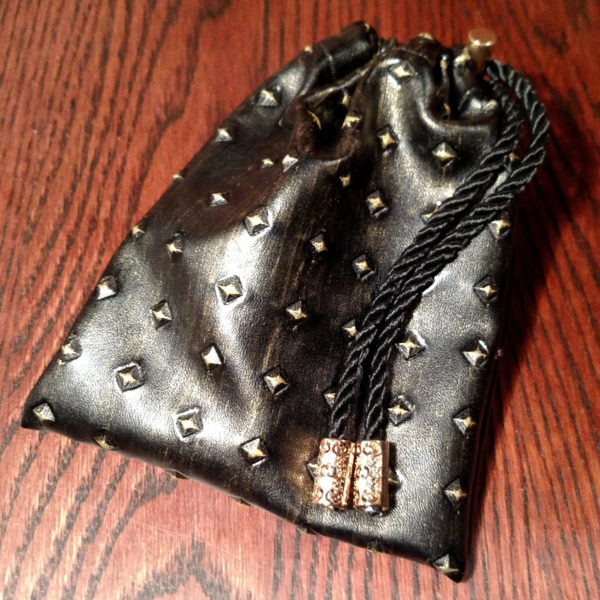 Studded Armor Dice Pouch - Gold